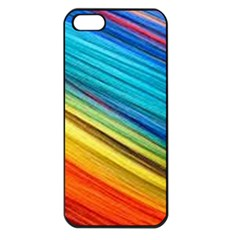Rainbow Apple Iphone 5 Seamless Case (black) by NSGLOBALDESIGNS2