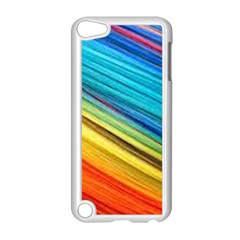 Rainbow Apple Ipod Touch 5 Case (white) by NSGLOBALDESIGNS2