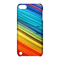 Rainbow Apple Ipod Touch 5 Hardshell Case With Stand by NSGLOBALDESIGNS2