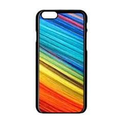 Rainbow Apple Iphone 6/6s Black Enamel Case by NSGLOBALDESIGNS2