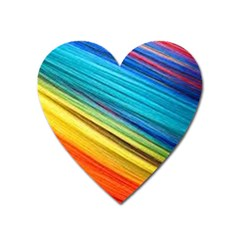 Rainbow Heart Magnet by NSGLOBALDESIGNS2