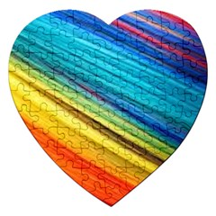 Rainbow Jigsaw Puzzle (heart) by NSGLOBALDESIGNS2