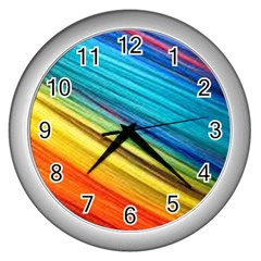 Rainbow Wall Clock (silver) by NSGLOBALDESIGNS2