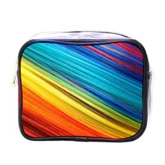 Rainbow Mini Toiletries Bag (one Side) by NSGLOBALDESIGNS2