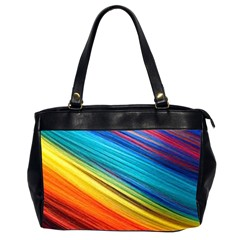 Rainbow Oversize Office Handbag (2 Sides) by NSGLOBALDESIGNS2