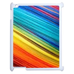 Rainbow Apple Ipad 2 Case (white) by NSGLOBALDESIGNS2