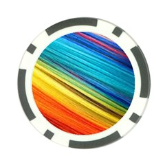 Rainbow Poker Chip Card Guard by NSGLOBALDESIGNS2