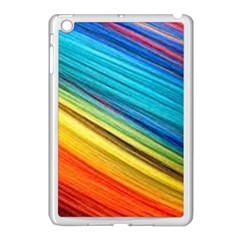 Rainbow Apple Ipad Mini Case (white) by NSGLOBALDESIGNS2