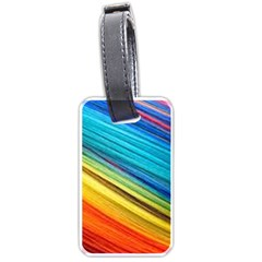 Rainbow Luggage Tags (one Side)  by NSGLOBALDESIGNS2