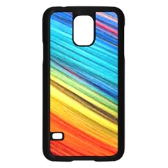 Rainbow Samsung Galaxy S5 Case (black) by NSGLOBALDESIGNS2