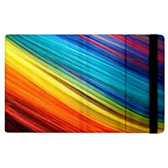 Rainbow Apple Ipad 2 Flip Case by NSGLOBALDESIGNS2