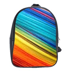 Rainbow School Bag (xl) by NSGLOBALDESIGNS2