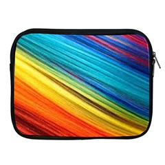 Rainbow Apple Ipad 2/3/4 Zipper Cases by NSGLOBALDESIGNS2