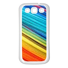 Rainbow Samsung Galaxy S3 Back Case (white) by NSGLOBALDESIGNS2
