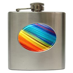 Rainbow Hip Flask (6 Oz) by NSGLOBALDESIGNS2