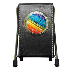 Rainbow Pen Holder Desk Clock by NSGLOBALDESIGNS2