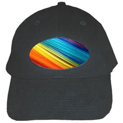 Rainbow Black Cap by NSGLOBALDESIGNS2