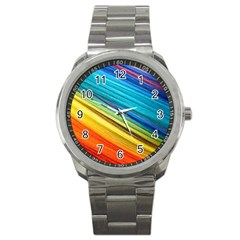 Rainbow Sport Metal Watch by NSGLOBALDESIGNS2