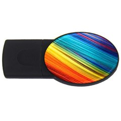 Rainbow Usb Flash Drive Oval (4 Gb) by NSGLOBALDESIGNS2