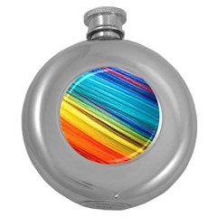 Rainbow Round Hip Flask (5 Oz) by NSGLOBALDESIGNS2