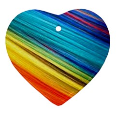 Rainbow Heart Ornament (two Sides) by NSGLOBALDESIGNS2