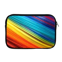 Rainbow Apple Macbook Pro 17  Zipper Case by NSGLOBALDESIGNS2
