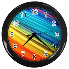 Rainbow Wall Clock (black) by NSGLOBALDESIGNS2