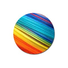 Rainbow Magnet 3  (round) by NSGLOBALDESIGNS2