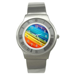 Rainbow Stainless Steel Watch by NSGLOBALDESIGNS2
