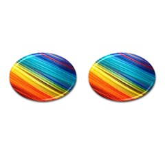 Rainbow Cufflinks (oval) by NSGLOBALDESIGNS2