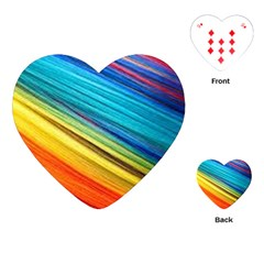 Rainbow Playing Cards (heart) by NSGLOBALDESIGNS2