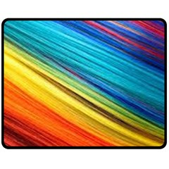 Rainbow Fleece Blanket (medium)  by NSGLOBALDESIGNS2
