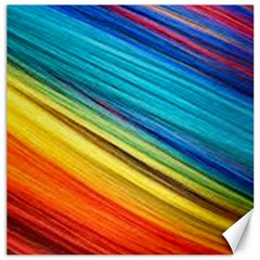 Rainbow Canvas 16  X 16  by NSGLOBALDESIGNS2