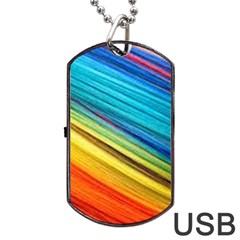 Rainbow Dog Tag Usb Flash (two Sides) by NSGLOBALDESIGNS2
