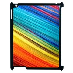 Rainbow Apple Ipad 2 Case (black) by NSGLOBALDESIGNS2