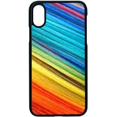 Rainbow Apple Iphone X Seamless Case (black) by NSGLOBALDESIGNS2