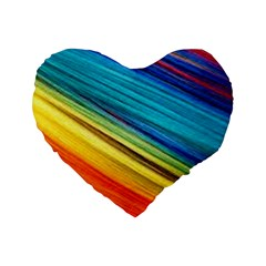 Rainbow Standard 16  Premium Heart Shape Cushions by NSGLOBALDESIGNS2