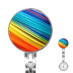 Rainbow Stainless Steel Nurses Watch by NSGLOBALDESIGNS2