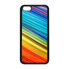 Rainbow Apple Iphone 5c Seamless Case (black) by NSGLOBALDESIGNS2