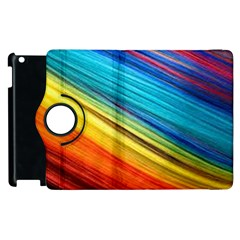 Rainbow Apple Ipad 3/4 Flip 360 Case by NSGLOBALDESIGNS2