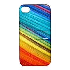 Rainbow Apple Iphone 4/4s Hardshell Case With Stand by NSGLOBALDESIGNS2