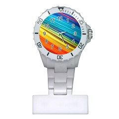 Rainbow Plastic Nurses Watch by NSGLOBALDESIGNS2