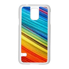 Rainbow Samsung Galaxy S5 Case (white) by NSGLOBALDESIGNS2