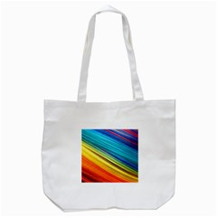 Rainbow Tote Bag (white) by NSGLOBALDESIGNS2
