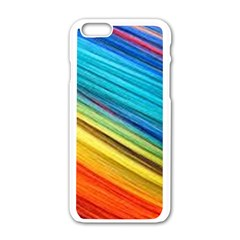 Rainbow Apple Iphone 6/6s White Enamel Case by NSGLOBALDESIGNS2