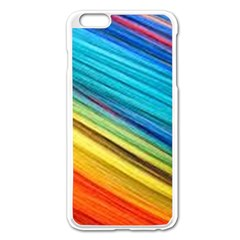 Rainbow Apple Iphone 6 Plus/6s Plus Enamel White Case by NSGLOBALDESIGNS2