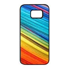 Rainbow Samsung Galaxy S7 Edge Black Seamless Case by NSGLOBALDESIGNS2