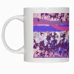 Abstract Pastel Pink Blue White Mugs by snowwhitegirl