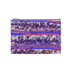 Abstract Pastel Pink Blue Cosmetic Bag (medium) by snowwhitegirl