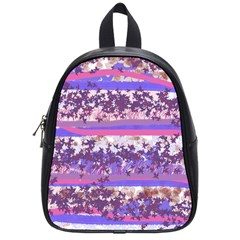 Abstract Pastel Pink Blue School Bag (small) by snowwhitegirl